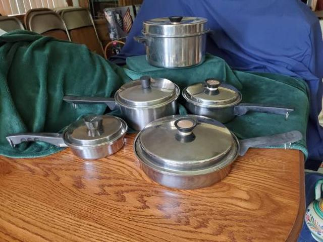 10 Piece Stainless Cookware $15 Plymouth