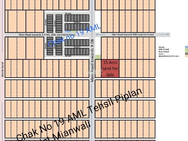 120 Kanal Agricultural Land For Sale In Mianwali Chak No 19 Aml
