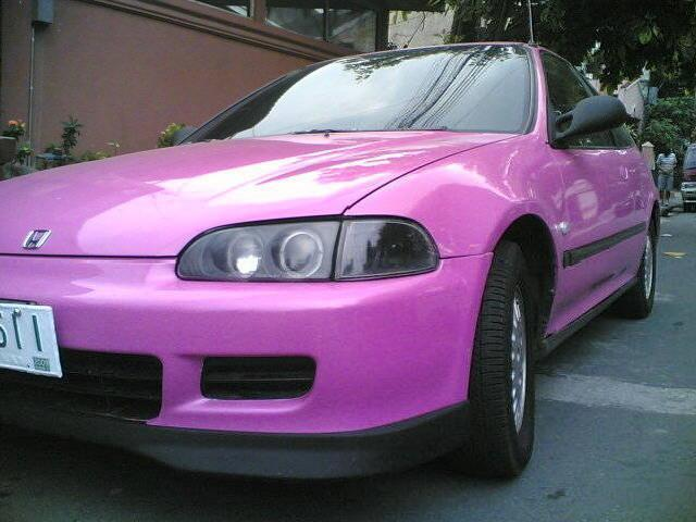 gallery for gt honda civic ek hatchback pink