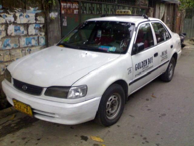 1999 mdl toyota taxi franchise renewable