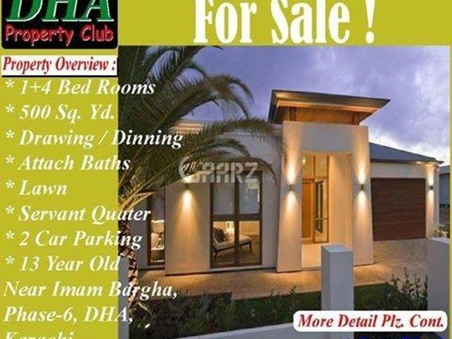 1 Kanal House For Sale In Karachi Dha Phase 6