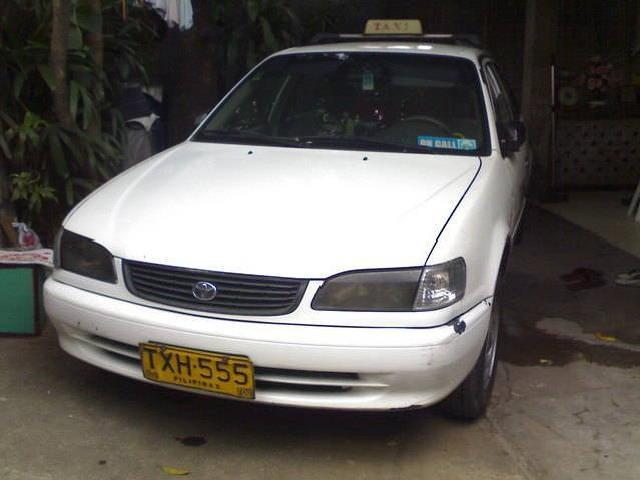 2002 mdl toyota corolla xl with taxi line rush for sale