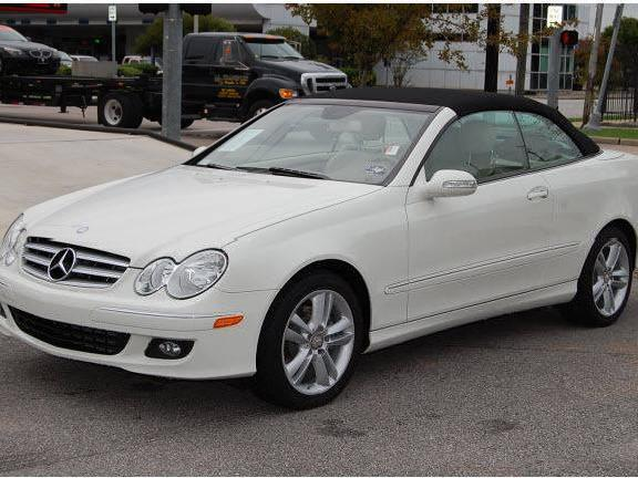 White Mercedes Benz Clk 350 Convertible Mitula Cars