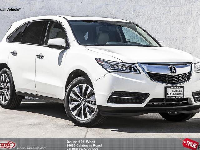 2015 acura mdx with technology package white diamond pearl. Black Bedroom Furniture Sets. Home Design Ideas