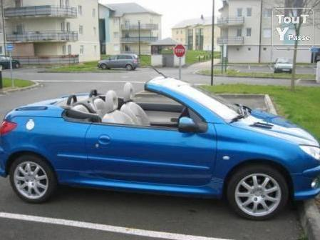 peugeot 206 cc bleu interieur mitula voiture. Black Bedroom Furniture Sets. Home Design Ideas
