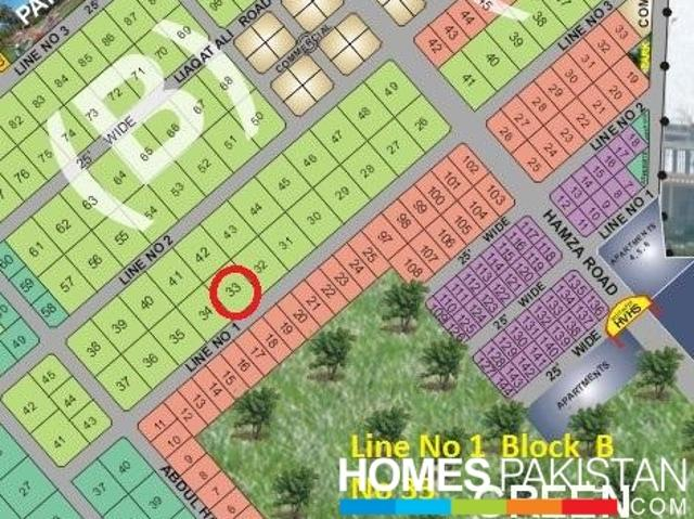 20 Marla Beautiful Location Residential Plot For Sale