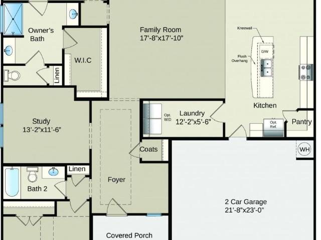 2 Bed, 2 Bath New Home Plan In Sneads Ferry, Nc