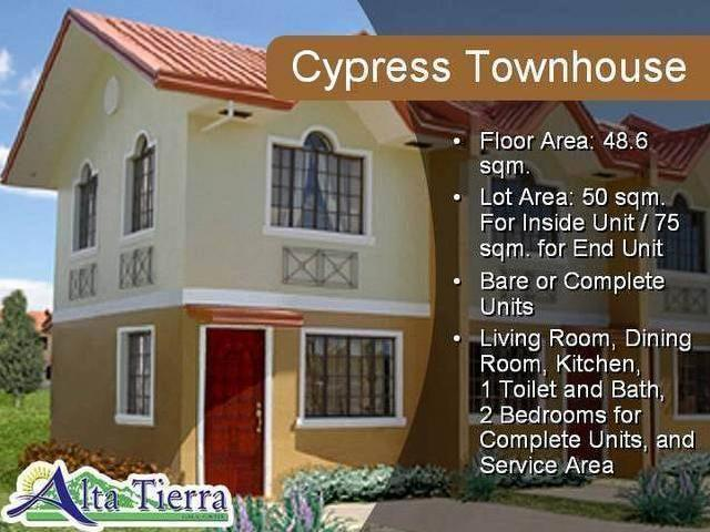 2 Bedroom Pre Selling Alta Tierra Gma Cavite Philippines Townhouses