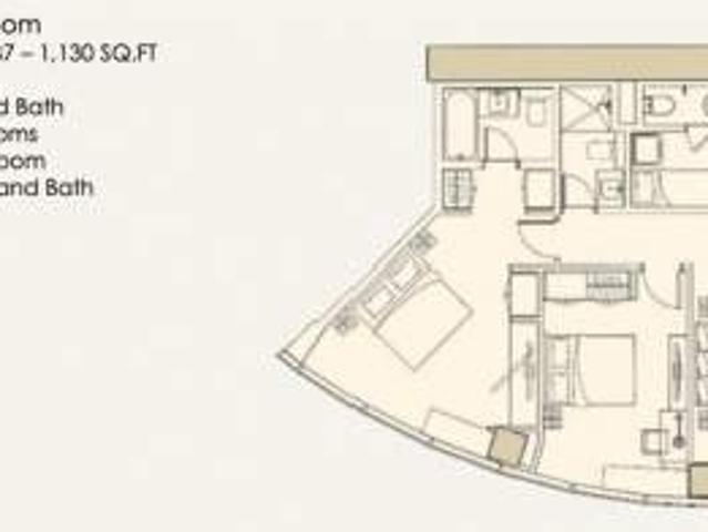 2 Bedroom Unit In The Imperium At Capitol Commons For Sale