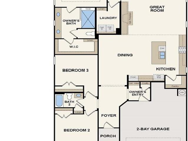 3 Bed, 2 Bath New Home Plan In Buford, Ga