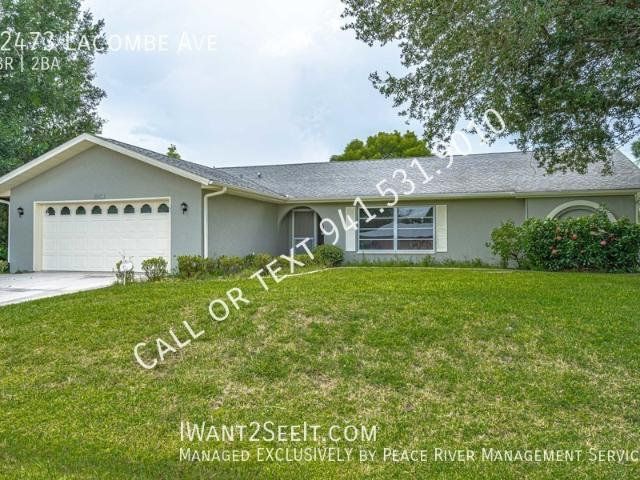 3 Bedroom Home For Rent At 22473 Lacombe Ave, Port Charlotte, Fl 33952