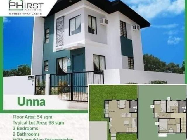 3 Br Single Attached House And Lot: Unna Phirst Park Homes Pandi