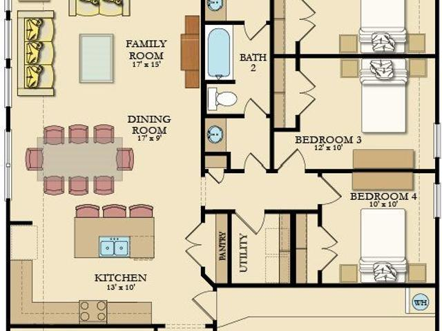4 Bed, 2 Bath New Home Plan In League City, Tx