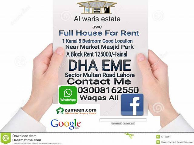 5 Marla Land For Sale In Lahore Block A Eme Society