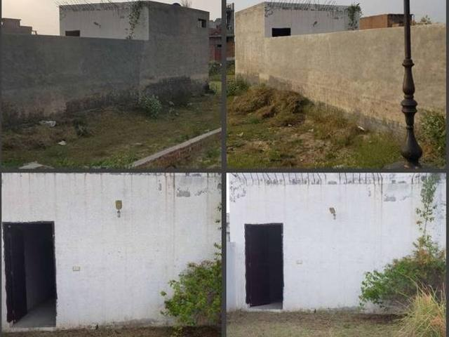 5 Marla Plot With Boundary Wall And One Room Washing Area Bath Room