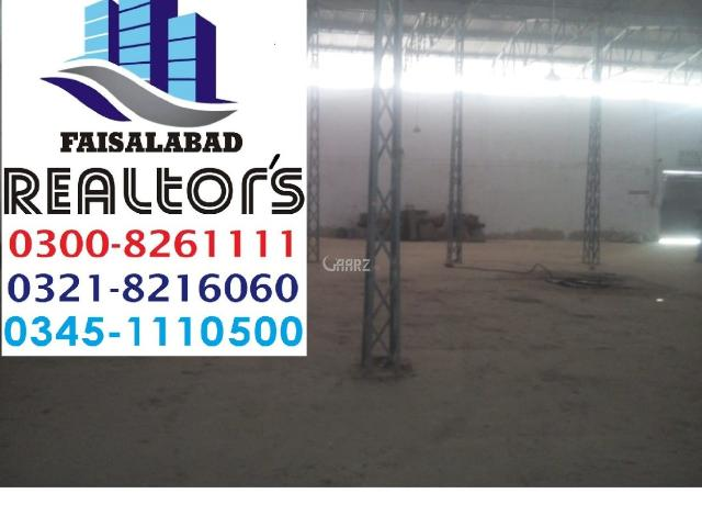 6 Kanal Commercial Factory For Sale In Faisalabad Nawab City