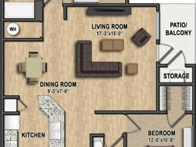 Aberdeen Apartments At Heartland Crossing 2 Bedroom Apartment For Rent At 8680 Walnut Grov...