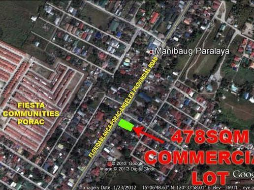 Affordable Lot For Sale Fronting Angeles Porac Floridablanca Provincial Road! R