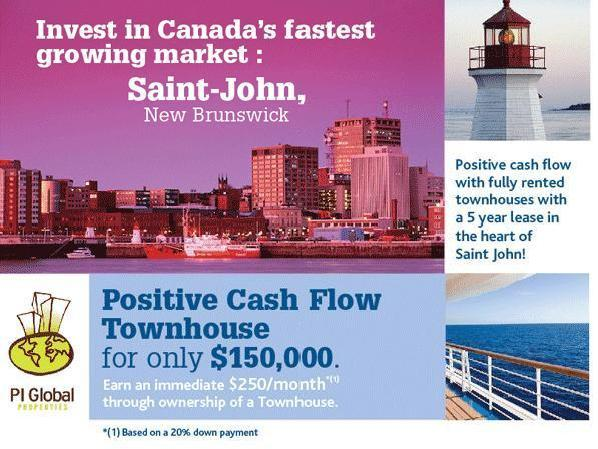Amazing Investment! Positive Cash Flow Townhouses For Sale In St John, Nb