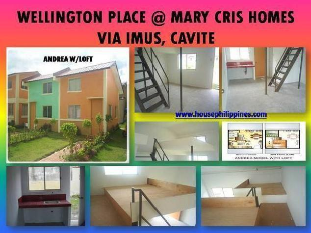 Andrea Model @ Wellinton Place As Low As Php 3,464.21 Mo. Amort. Via Imus Cavite