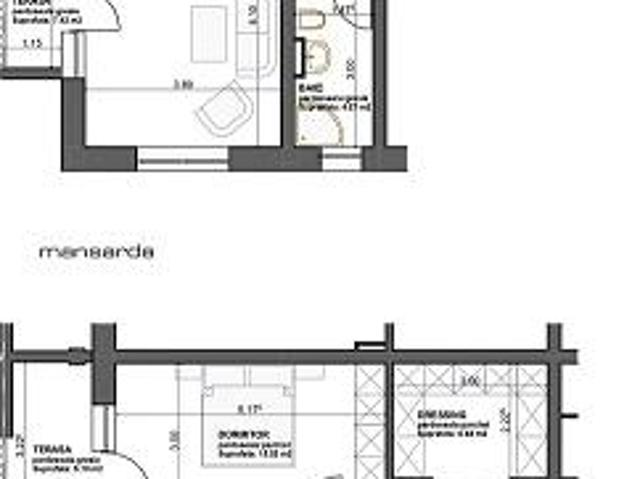 Apartament 3 Camere, 104 Mp + 3 Terase, Decomandat
