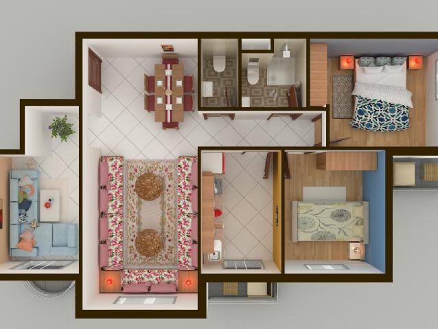 plan appartement addoha bouznika