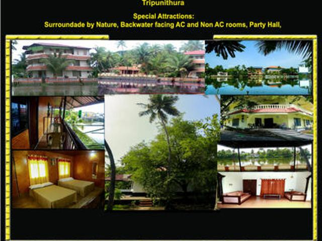 Back Water Side Ac And Non Ac Rooms And Hall For Rent