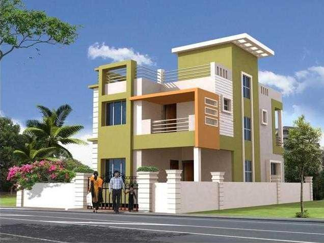 Bhubaneswar 4 residential project design properties in for Duplex project homes