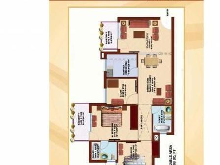 Book Flats In Srs Pearl Heights,sec 87,faridabad@9891700111