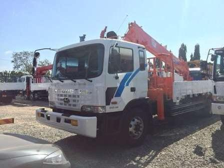 Boom truck hyundai gold series 7 tons lifting load capacity