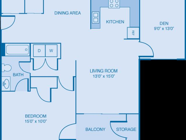 Brooklyn Place Apartments Oxford 1 Bedroom W/ Flex Space!