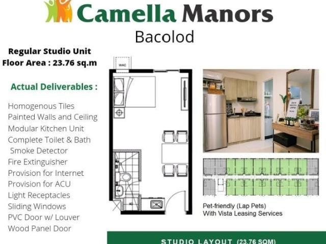Camella Manors Bacolod   Studio Type   Pre Selling