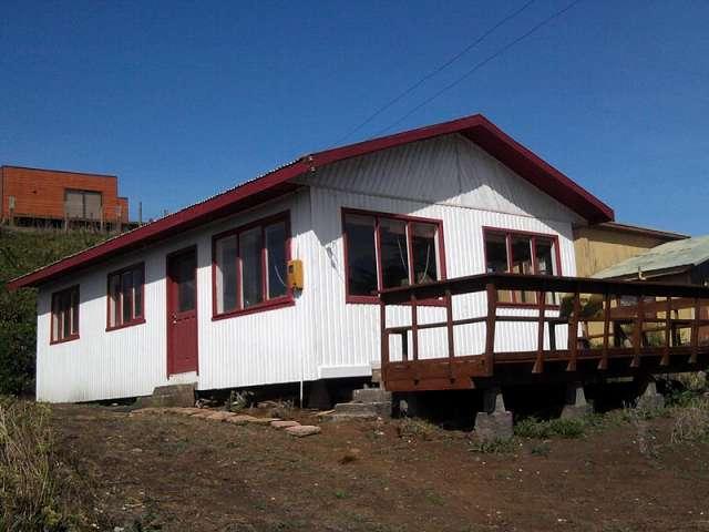 Casa Con Vista Al Mar En Puerto Saavedra