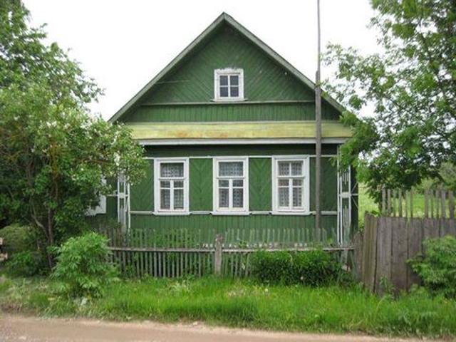 Деревянные дома в деревне фото