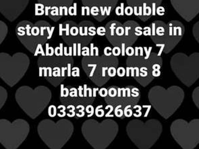 Double Story 7 Marla House For Sale