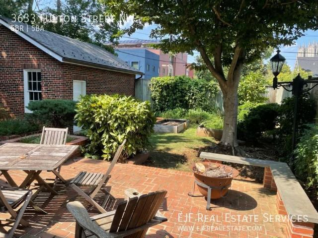 Elegant Embassy Row Single Family Home For Rent W/views Of The Cathedral, Private Patio/ga...