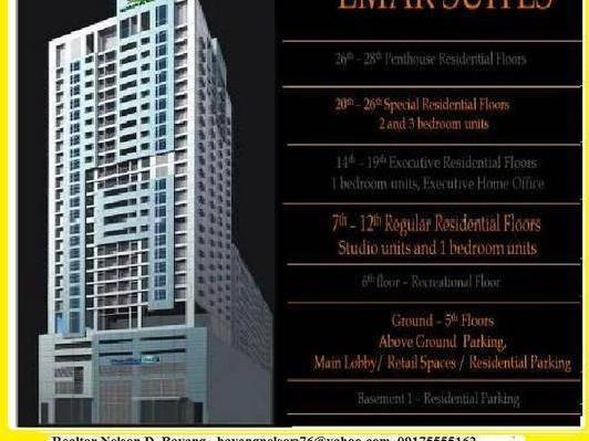 Emar Suites, 3br With Maids Room, 94sqm Lease To Own, Shaw Blvd. Mandaluyong