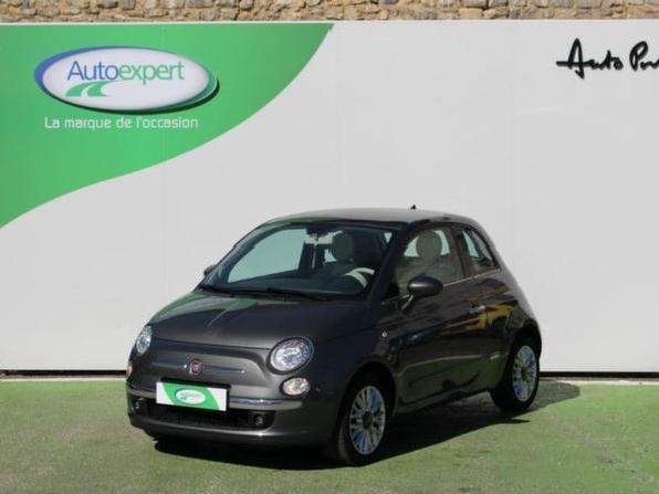 voitures occasion fiat 500 lounge gris metallise mitula voiture. Black Bedroom Furniture Sets. Home Design Ideas