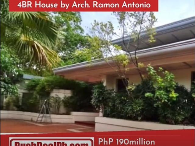 For Sale: Ayala Alabang, 4br House Designed By Arch. Ramon Antonio, Lot Area: 1,319 Sqm, P...