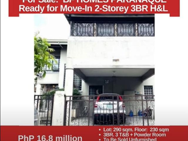 For Sale: Bf Homes Paranaque, 2 Storey 3br On 290 Sqm Lot, Php 16.8m
