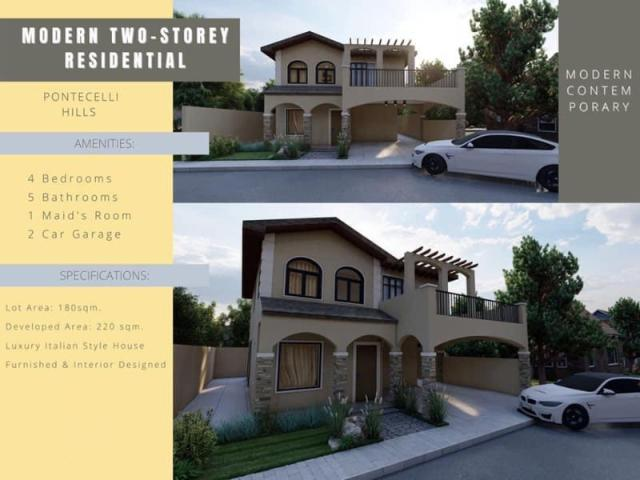 Furnished House For Sale In Pontecelli Hills, Daang Hari