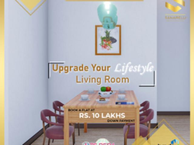 Gated Community 2bhk Apartments For Sale In Bowrampet   Sanarelli