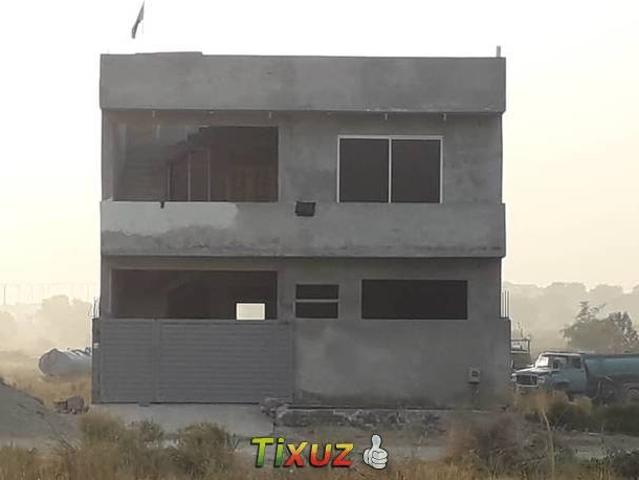 Grey Structure House In Mumtaz City For Sale
