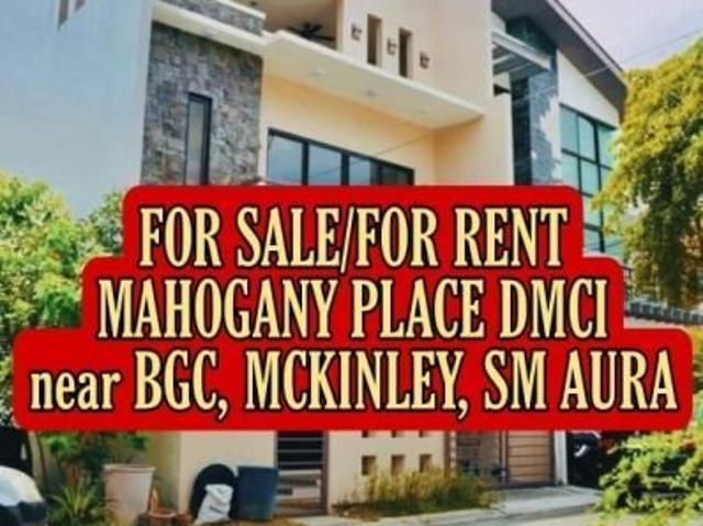 House And Lot For Sale Or For Rent In Taguig Near Sm Aura 3 Bedroom