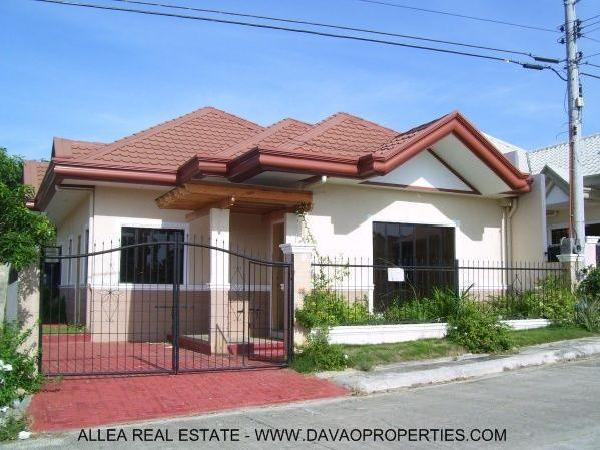 Philippine rental house bungalow style davao city joy for Model house bungalow type