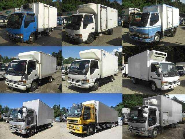 Isuzu elf closed van refrigerated van 10ft 12ft 14ft 16ft 18ft japan ltrucks