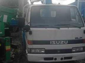 Isuzu forward boom truck