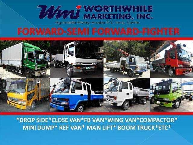 Isuzu forward drop side closed van wing van ref van boom truck