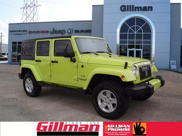 Jeep Wrangler Unlimited In Houston   Used Jeep Wrangler Unlimited Green  Houston   Mitula Cars