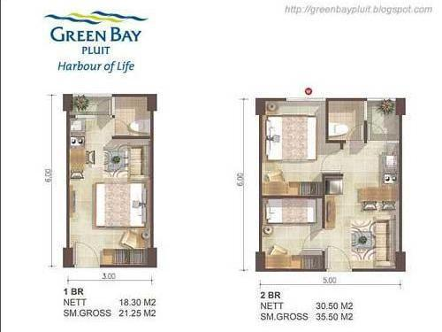 Jual Apartemen Di Muara Karang – Green Bay Pluit – 2 Br Unfurnished Sold Out